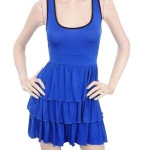 Sexy Tennis Style Tiered Ruffle Mini Dress